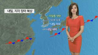[날씨] 밤까지 내륙 소나기…내일 장마전선 북상
