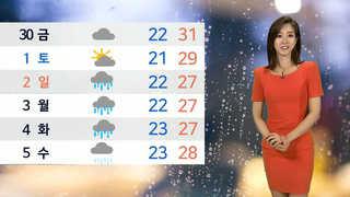 [날씨] 내일 오후 곳곳 소나기…대구 폭염주의보