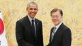 الرئيس مون يجتمع مع الرئيس الأمريكي السابق باراك أوباما