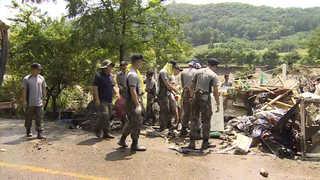 '물난리' 청주 복구작업 박차…이재민들 열흘째 고통