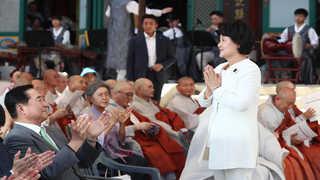 김정숙 여사, 봉은사 전통문화체험관 준공식 참석
