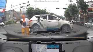 [현장영상] 한 차량이 신호 위반해 경찰 순찰차를 가로막은 이유는