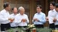 الرئيس مون يعقد اجتماع البيرة مع كبار رجال الأعمال لمدة 159 دقيقة