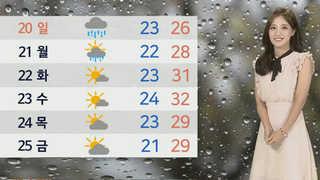 [날씨] 주말 내내 소나기ㆍ비…심한 더위 없어
