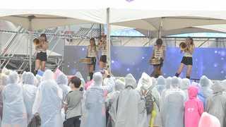 빗속 휴일 도심 '한산'…광화문서 '미리 평창 체험'
