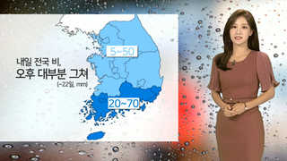 [날씨] 밤사이 남부 강한 비…그친 뒤 기온 올라가