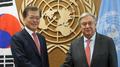 Moon rencontre le secrétaire général de l'ONU dès son arrivée à New York