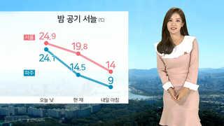 [날씨] 내일 출근길 쌀쌀…맑고 공기 깨끗