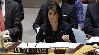 """헤일리 미국 대사 """"트럼프, 북한과 전쟁 원치않아"""""""