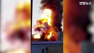 [현장영상] 포장재 공장서 폭발 동반 화재…최소 21명 부상