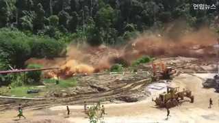 [현장영상] 재난 영화처럼…라오스 댐 붕괴 영상 공개