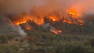 포르투갈ㆍ스페인 대형산불…아일랜드 허리케인 피해 잇따라