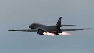'죽음의 백조' B-1B, 오늘 오후 성남공항 저공비행