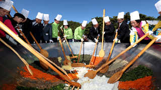 속리산 가을잔치 '1천인분 산채비빔밥'