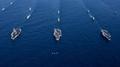 3 حاملات طائرات أمريكية تشارك في تدريبات مشتركة في البحر الشرقي