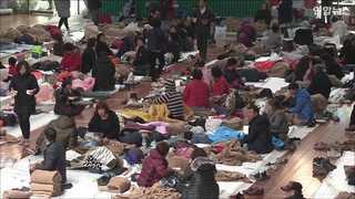 [현장영상] 포항 지진 피해 눈덩이…부상 57명, 이재민 1천500여 명
