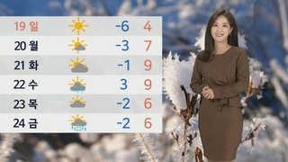 [날씨] 토요일 아침 서울 영하 4도…하루종일 강추위