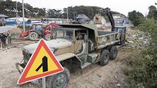 주말 잊은 피해복구 작업…군병력 본격 투입