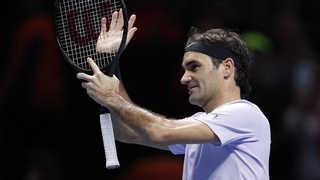 페더러, 고핀에 패배…ATP 파이널스 결승 진출 실패
