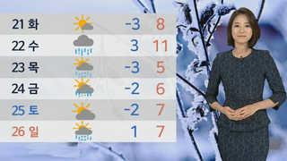 [날씨] 서울 닷새째 겨울 추위…오후 중서부 '눈'