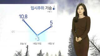 [날씨] 기온 뚝 '입시추위'…곳곳 눈ㆍ비