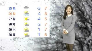 [날씨] 내일 추위 속 중부 많은 눈…빙판 조심