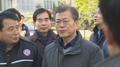 El presidente Moon realiza una visita sorpresa a Pohang afectada por el terremot..