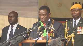 '무가베 퇴진' 짐바브웨 임시 대통령에 음난가그와 취임
