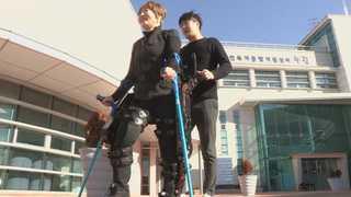 '로봇보행보조기' 하반신 마비 장애인의 발