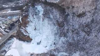 폭포가 거대 빙벽으로…강원 최저기온 영하 22도 기록