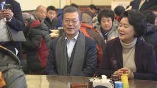 문 대통령, 베이징 서민식당서 아침식사