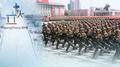 كوريا الشمالية أقامت استعراضا عسكريا صباح اليوم