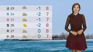 [날씨] 아침 쌀쌀ㆍ서울 영하 4도…중부 눈, 최고 5cm