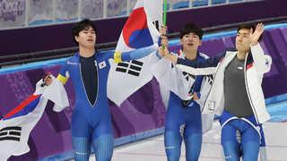 [올림픽] 남자 스피드 팀추월 소중한 은메달 획득