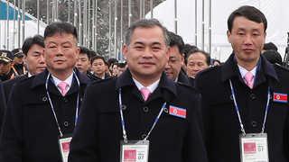 북한선수단, 평창 패럴림픽선수촌 입촌