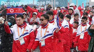 북한 패럴림픽 선수단, 평창 선수촌 공식 입촌식