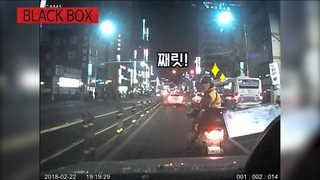 [블랙박스] 차 가로막고 가다서다…보복운전 하는 오토바이