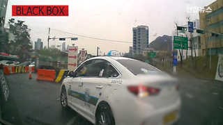 [블랙박스] 사고 부른 택시의 무리한 좌회전