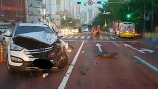 무면허 10대 오토바이, SUV와 충돌…2명 사망