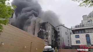 [현장영상] 오산 6층 원룸건물서 화재…17명 연기 흡입