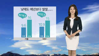 [날씨] 낮에도 예년보다 쌀쌀…서울 16도ㆍ대구 15도