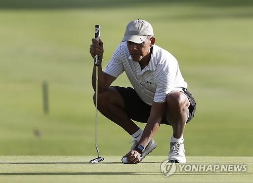 '골프광' 오바마 퇴임후 골프는 어디서?…클럽 회원가입 해프닝