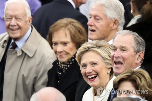 [트럼프 취임] 트럼프 취임식장 의사당 도착