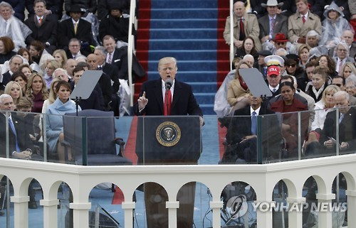 """트럼프 """"우리 일자리·꿈·국경 되찾겠다"""" 美우선주의 선언"""