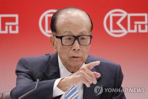 """홍콩부호 리카싱 """"中 정부 지지받는 행정장관 후보에 투표할 것"""""""