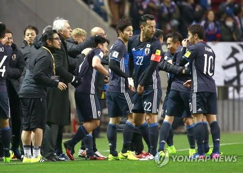 일본, 태국 4-0 완파하고 러시아월드컵 예선 3연승