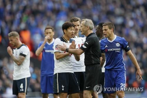 손흥민, 20호골 '불발'…토트넘, 첼시에 2-4로 져 FA컵 결승좌절
