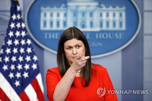 백악관 신임 대변인에 '세 아이 엄마' 샌더스 승진 발탁