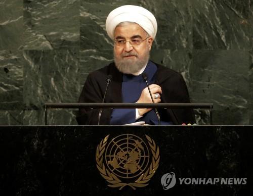 """이란 대통령 """"불량배 풋내기가 핵합의 파기시 단호대응""""(종합)"""