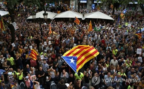 스페인, 카탈루냐 관료 체포·예산권 몰수…독립추진 진통격화(종합)